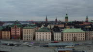 AERIAL: Stockholm city, Old town video