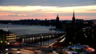 Stockholm City Traffic at Dusk video