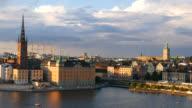 4K: Stockholm cityscape skyline video