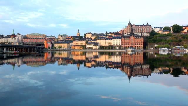 Stockholm early summer morning in sodermalm, Sweden video