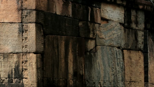 Stone carving with a text at the ruins in Polonnaruwa, Sri Lanka. video