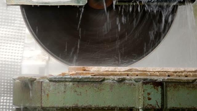 stone cutting machine video