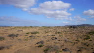 AERIAL: stone desert on Canary islands video