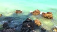 Stone in Sangwan beach , Pattaya , Thailand. video