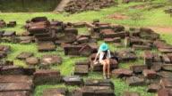 stone jigsaw at Angkor video