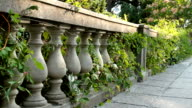 Stone railing of a terrace of ionic style. video