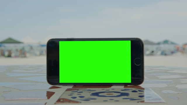 Stone shadow smartphone green screen mobile ground video