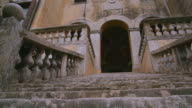 stone staircase of the Villa in Italy video