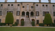 stone staircase of the Villa in Italy. video