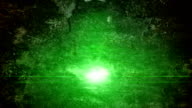 Stone wall and green light video