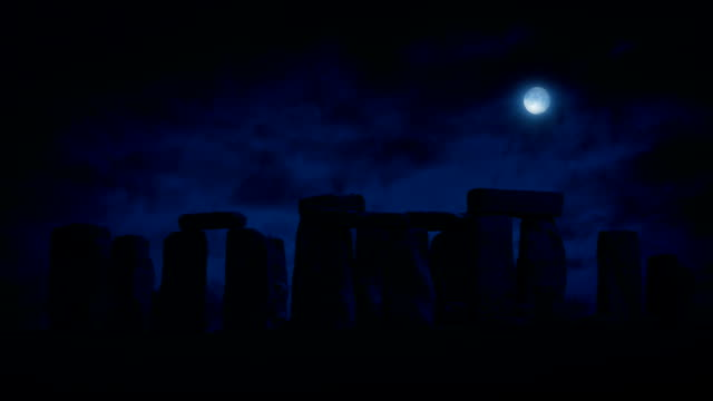 Stonehenge At Night With Full Moon video