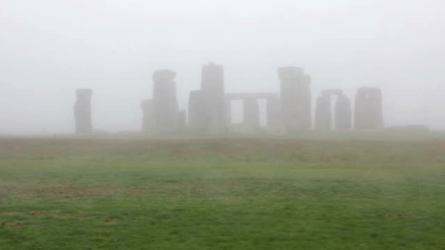 Stonehenge in the fog, England video