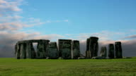 Stonehenge with cloud time lapse. N25 video