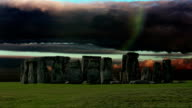 Stonehenge with cloud time lapse. N3 video