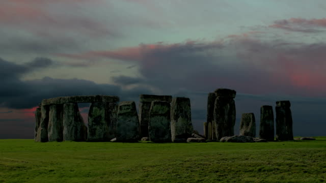 Stonehenge with cloud time lapse. N4 video