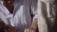 Stonemason carving video