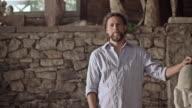 Stonemason finishes his work video