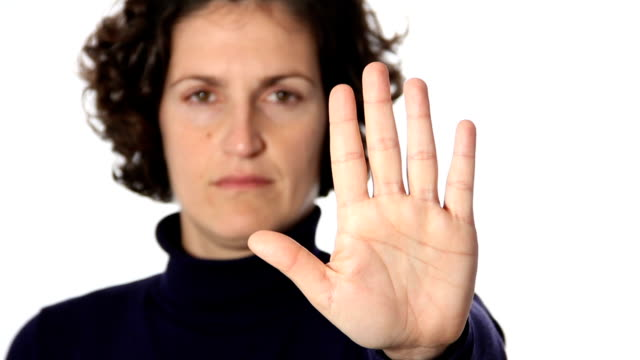 Stop gesture video