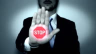 Stop Sign Animation in Hand video