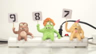 stopmotion animation monster jury voting video
