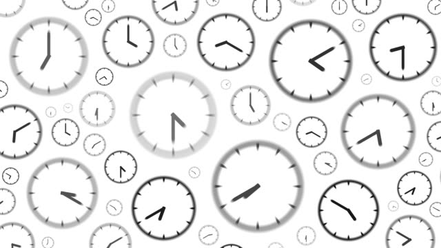 CLOCKS : stopping at 12:00 o'clock (WIPE) video
