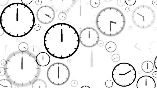 CLOCKS : stopping at 12:00 o'clock (LOOP) video