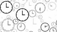 CLOCKS : stopping at 3:00 o'clock (LOOP) video