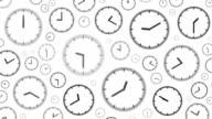 CLOCKS : stopping at 5:00 o'clock (WIPE) video