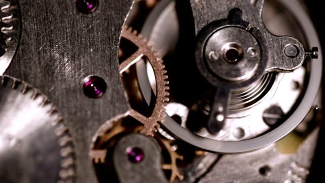 Stopwatch gears running-closeup video