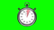 Stopwatch on green background video