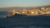 WS Storage tanks and cranes in harbor of Genoa video