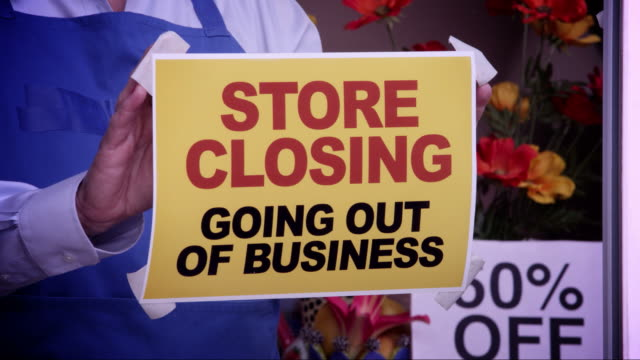 Store Closing Window Sign video