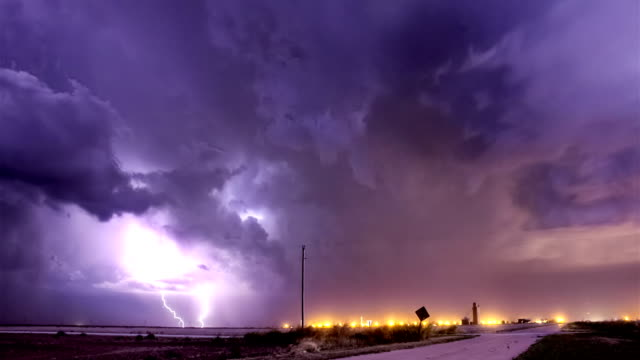 Storm Approaching Town video