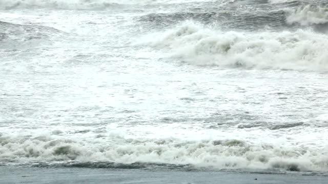 Storm at ocean video