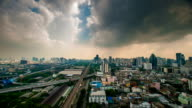 storm clouds over city timelapse video