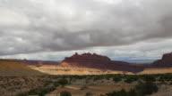 Storm clouds over desert San Rafael Swell time lapse Colorado Plateau Utah video