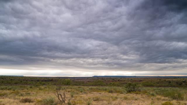 Storm clouds over desert video