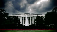 Storm clouds over the White House in Washington, D.C. video