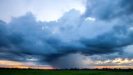 Storm front with rain. video
