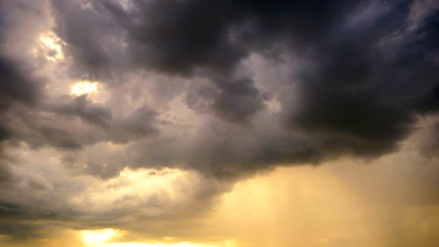Storm nimbus at sunset video
