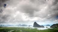 Storm on the Mountain at Khao Samed Nang Chee Viewpoint,Phang-nga,thailand video