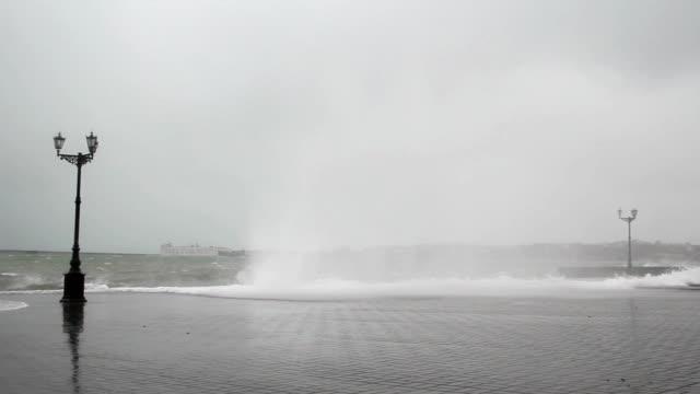 storm on the promenade video