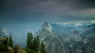 Storm Passing Over Yosemite National Park - Time Lapse video