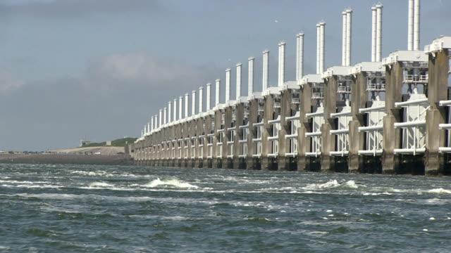 Storm surge barrier video