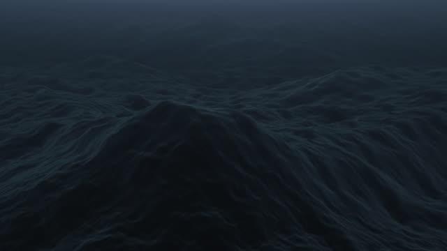 Stormy ocean / Dark waves loop video