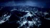 Stormy ocean with rain and lightning by night. video