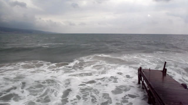 Stormy sea waves video