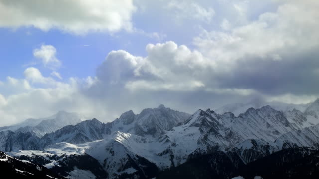 Stormy sky over the alps video