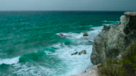 Stormy Weather on Isla Mujeres, Mexico video