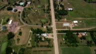 Straight road near Huron - Aerial View - South Dakota, Beadle County, United States video